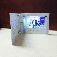 China HD 1024 X 600 LCD Video Brochure With Video Screen , Digital Greeting Cards wholesale