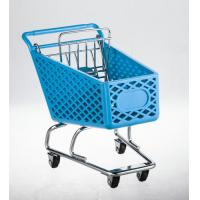 China Wheeled shopping trolley With metal base and back gate in chrome plated wholesale
