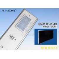 China 7200LM Sunpower Solar Panel 18V 70W Automatic Dim Integrated Solar Street Light wholesale