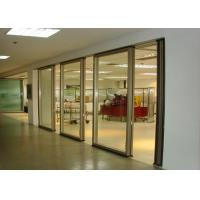 China Office Folding Glass Block Partition Walls 680 / 1230 Width 2000 / 4500 Height wholesale
