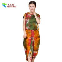 China OEM ODM Womens Linen Suits Clothing , Custom Printed Chinese Style Blouse wholesale