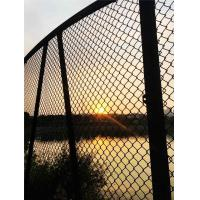 China Durable Black Chain Link Fence Privacy Fabric Hot Dipped Galvanized Mesh Fence wholesale