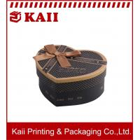 China Heart Shape Red Or Black Gift Boxes / Gift Packaging Boxes / Fancy Gift Boxes For Promotion wholesale
