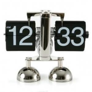 China best price flip over clock libra flip clock ,metal table clock on sale