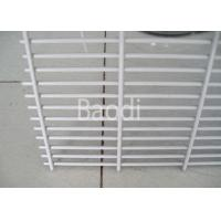 China White PVC Coated Wire Mesh Security Fencing 2.4m Height For Factory Machine Guards wholesale