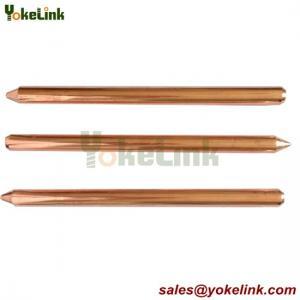 China Underground System copper bonded Lightning rod round Ground Rod wholesale