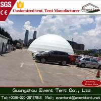 Luxury White Geodesic Dome Tent With 850g / Sqm Double PVC  Fabric