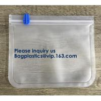 China Seal Reusable PEVA Storage Bags ideal For Food Snacks, Lunch Sandwiches, Makeup,Customized Printing Peva Plastic Materia wholesale