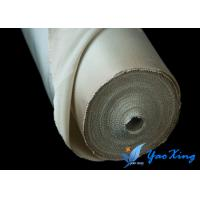 China Plain High Temperature Fiberglass Cloth With Steel Wire Inside Good Heat Insulation wholesale