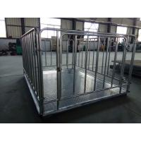China 2 X 2m 500kg Livestock Weighing Scales , 1t 2t 3t Portable Livestock Scales For Cattle wholesale