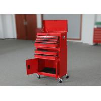 China 2 Doors Metal Professional Movable Tool Cabinets Combo 24 Inch With 6 Drawers wholesale