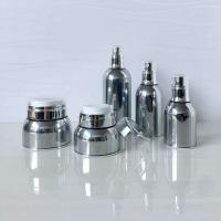 Quality Wholesale Skincare Packaging Round UV silver 30ml 50ml Cosmetic Jars for sale