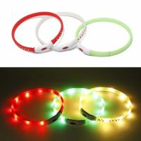 China Christmas Pattern Light Up LED Safety Collars For Dogs Comfortable To Wear wholesale