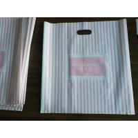 China Customizable Plastic Shopping Bag / Plastic Merchandise Bags With Die Cut Handles on sale