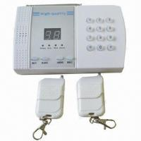 China Wireless Auto-dial Home Security Alarm System, Can Restore 6-group Calling Alert Numbers  wholesale