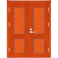 China Double Leaves Wooden Fire rated Door wholesale