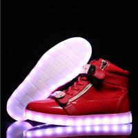 Buy cheap Reathable LED Light Up Sneakers Red Light Up Shoes Rechargeable Function from wholesalers