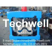 China 0.3-0.7mm Glazed Roof Ridge Cap Roll Forming Machine with  Welded Structural Steel wholesale