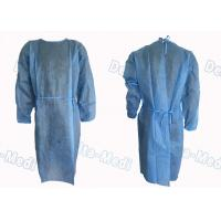 China Long Sleeve Disposable Protective Gowns , Comfortable Dustproof Medical Patient Isolation Gowns wholesale