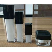 China the man cosmetic packing 15ml silver cap square acrylic pump bottles 30g acrylic cream jar for face skin wholesale