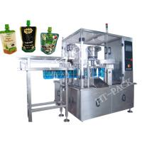 China Jam / Sauce / Milk Liquid Pouch Packing Machine With Injector , Stainless Steel Material wholesale