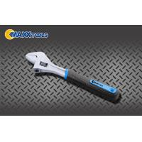 Heavy Duty Hand Tools Steel Chrome Plated 3- Tone PVC Grip Crescent Adjustable Wrench