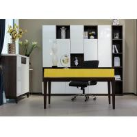 China E1 Grade Modern Commercial Office Furniture , Home Computer Desks Lacquer Painting wholesale