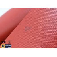 Buy cheap Red Silicone Coated Fiberglass Fabric 34oz 0.85MM 39.4 Inch Heavy Duty from wholesalers