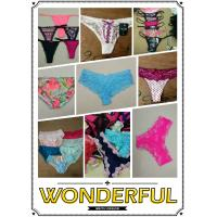 China hot selling cheap assorted women sexy lace underwear ladies lingerie mature T-back Summer panties stock wholesale
