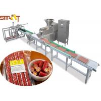 China 100 - 300kg/H Pet Food Extruder Machine With Two Layers Belts Design wholesale