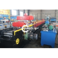 China Galvanized 3 Wave Cold 0.6m Crash Barrier Roll Forming Machine on sale