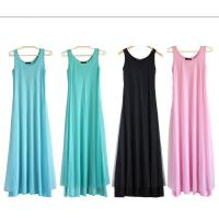 China O Neck Teal Pink Womens Summer Maxi Dresses Mesh Veils Strappy Prom Dresses wholesale