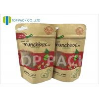 China Customized Stand Up Food Pouches For Nuts , Clear Window Kraft Paper Pouches wholesale