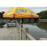 China Folding Sun Beach Patio Logo Umbrellas Eco Friendly With Vivid Digital Printing wholesale