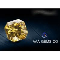 China Yellow Colored Moissanite Loose Stones Anti High Temperature wholesale