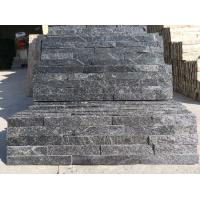 China Black Quartzite Culture Stone,Split Face Stone Veneer,Quartzite Stone Cladding,Natural Stakced Stone wholesale