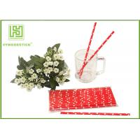 China Cute Design Red And White Party Paper Straws For Hot Drinking Diameter 6mm wholesale