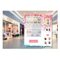 China Coin Operated Advertising Food Vending Machine , Cupcake Bread Snack Vending Machine wholesale