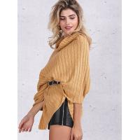 China Turtleneck Fashion Pullover Sweaters Cable Knit Pullover Womens Capes And Cloaks wholesale