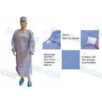 China Wood Pulp Spunlace Sterile Disposable Surgical Gown With Knitted Cuff wholesale