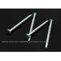 "China Needle Point Electro Galvanized Twisted Nails 4"" X BWG7 Twisted Shank Nails Resist Corrosion wholesale"