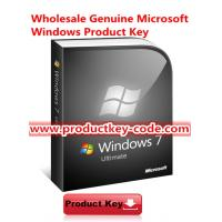 China 32bit 64bit Windows 7 Product Key Codes , Offer Genuine Win 7 Ultimate FPP Key wholesale