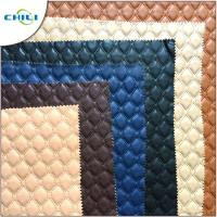 China Eco Friendly Faux Leather Upholstery Fabric Raw Material Knitted Professional wholesale