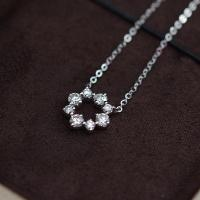 China 1.48 Grams Moissanite Jewelry , 0.08 Carat White Gold Moissanite Necklace wholesale