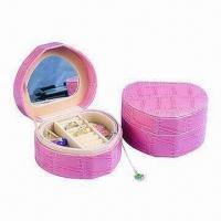 China Wooden Jewelry Gift Box, Made of PU, Greyboard, Velvet and Fabric wholesale