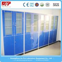 China Durable Stainless Steel Lab Vessel Cabinet Blue With Alloy Handle wholesale