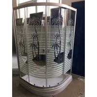 China Palm Tree Shower Cabin With Tray , Bathroom Corner Shower Enclosures Pop - Up Waste Drain wholesale
