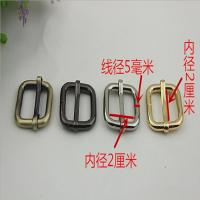 China Bag making fittings 20 mm light gold iron adjust square ring adjustable buckle wholesale