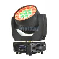 China Die - Cast Alluminun And Plastic LED Moving Head Wash Light With 8 - 50 Degree Zoom Angle wholesale