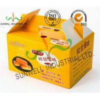 China Custom Printed Foldable Cardboard Food Packaging Boxes For Cup Cake / Dessert Packing wholesale